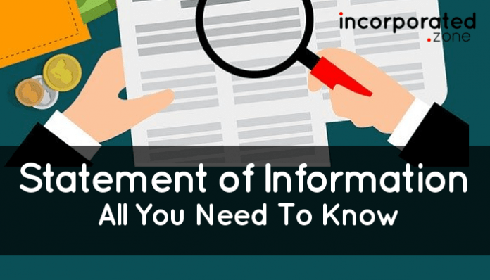 Statement of Information (What Is It And How To File One)