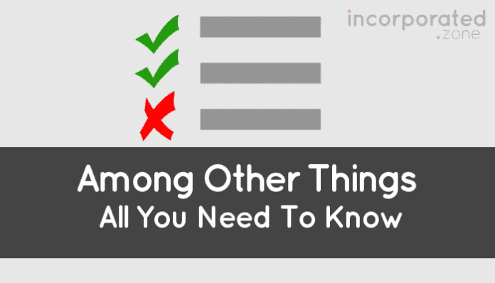 Among Other Things (Meaning in Contracts)