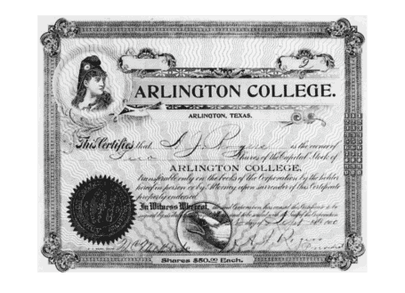 Stock certificate example 1