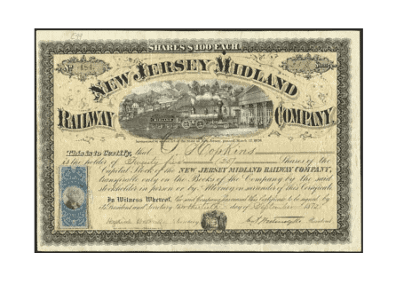 Stock certificate example 2