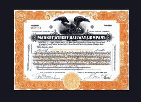 Stock certificate example 3