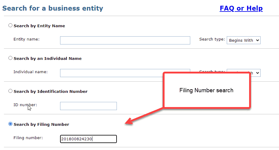 Michigan business entity search - 11 filing number search