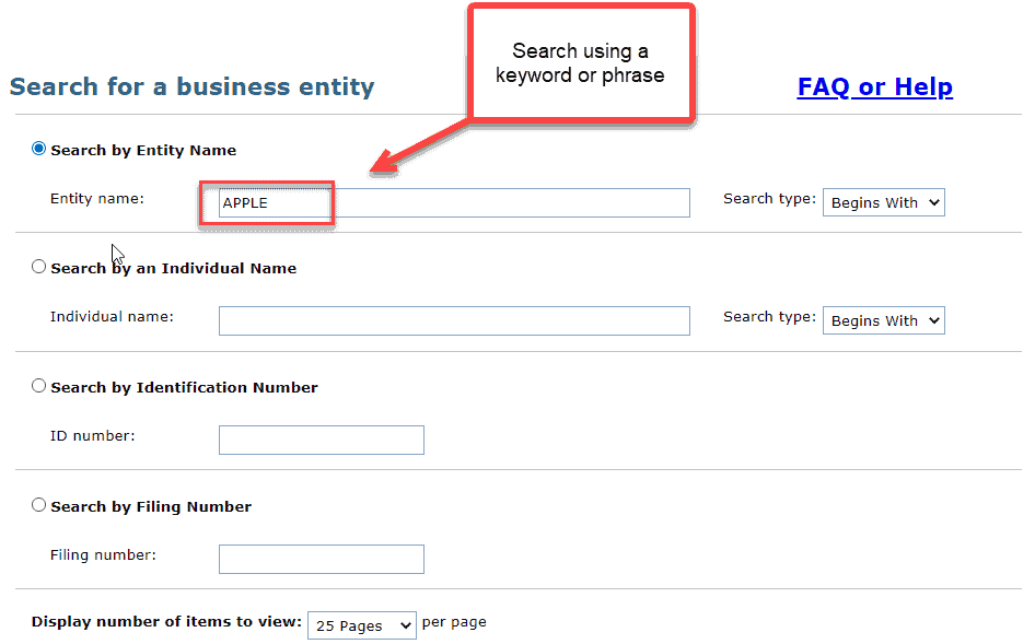 Michigan business entity search - 2 search for name