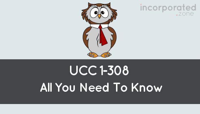Gesetz Ucc 1 308