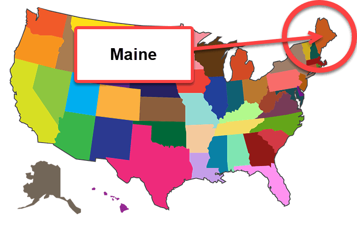 How To Start A Business In Maine - Map 1