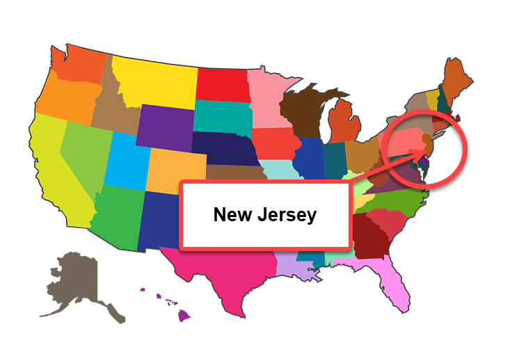 How To Start A Business In New Jersey - Map 1